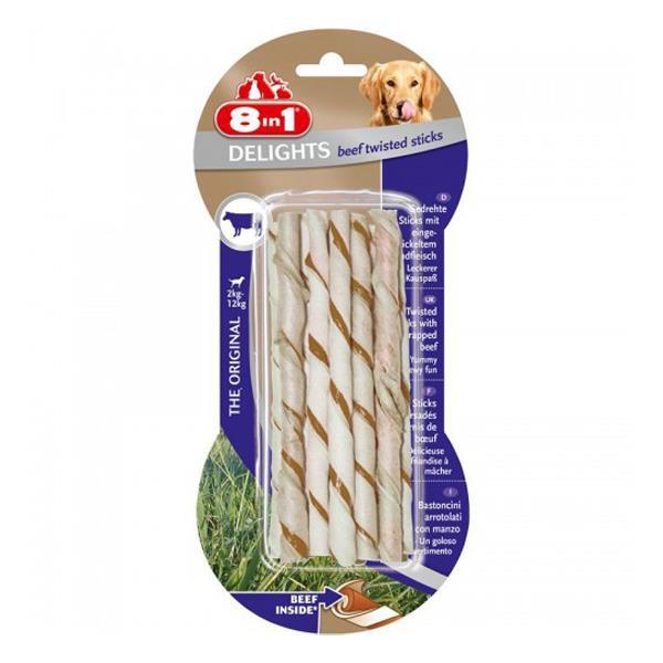 8 in 1 Delight Beef Twisted Sticks Köpek Ödülü