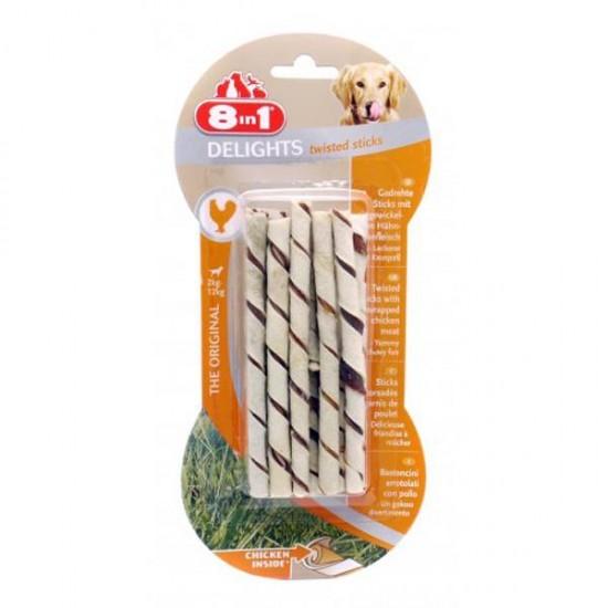 8in1 Delight Twisted Sticks Köpek Ödülü