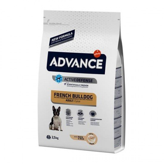 Advance Adult French Bulldog Ördekli Yetişkin Köpek Maması 2,5Kg