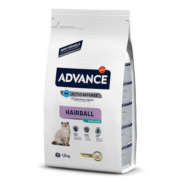 Advance Sterilized Hairball Hindili Kısır Kedi Maması 1,5 Kg