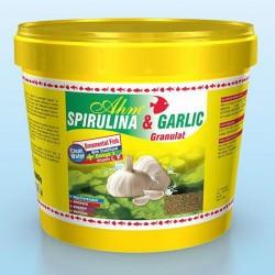 Ahm Spirulina Garlic Sarımsaklı Balık Yemi 100gr - Kovadan Bölme