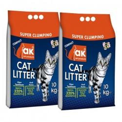 Akkum Kedi Kumu Kalın Avantajlı Paket 10kg x 2 Adet