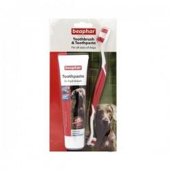 Beaphar Tooth Combipack Köpek için Fırça ve Macun Ağız Bakım Seti