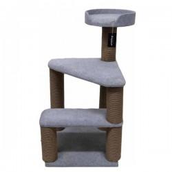 Bedspet 2 Basamaklı Kedi Tırmalama Platformu Gri
