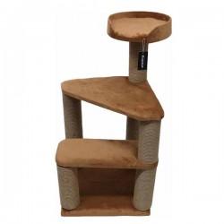Bedspet 2 Basamaklı Kedi Tırmalama Platformu Kahverengi