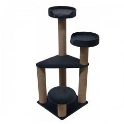 Bedspet 3 Oturaklı Kedi Tırmalama Platformu Füme