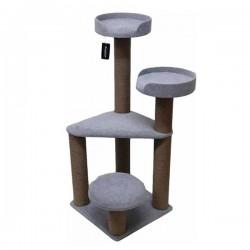 Bedspet 3 Oturaklı Kedi Tırmalama Platformu Gri