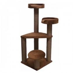 Bedspet 3 Oturaklı Kedi Tırmalama Platformu Kahverengi