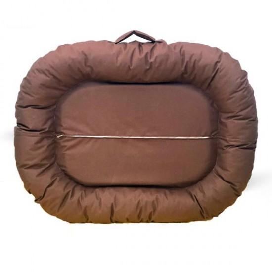 Bedspet Dış Mekan Kedi Köpek Yatağı 115x80 Cm Kahverengi