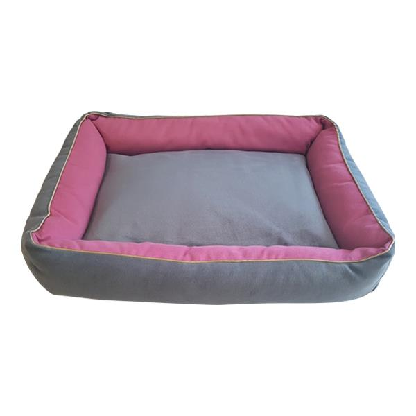Bedspet İç Mekan Kedi Köpek Yatağı Gri Pembe