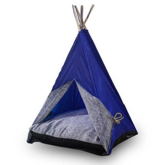 Bedspet Kedi Çadırı - Mavi - Büyük Boy