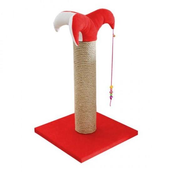 Bedspet Şapkalı Kedi Tırmalaması Kırmızı 70Cm