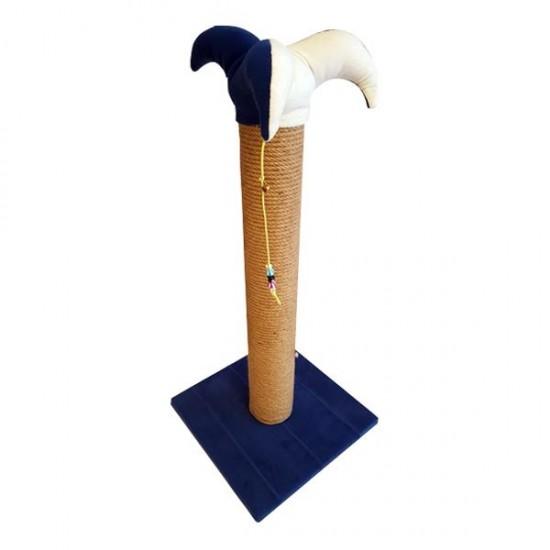 Bedspet Şapkalı Kedi Tırmalaması Mavi 70Cm