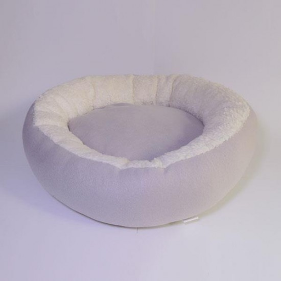 Bedspet Simit Kedi Köpek Yatağı Gri