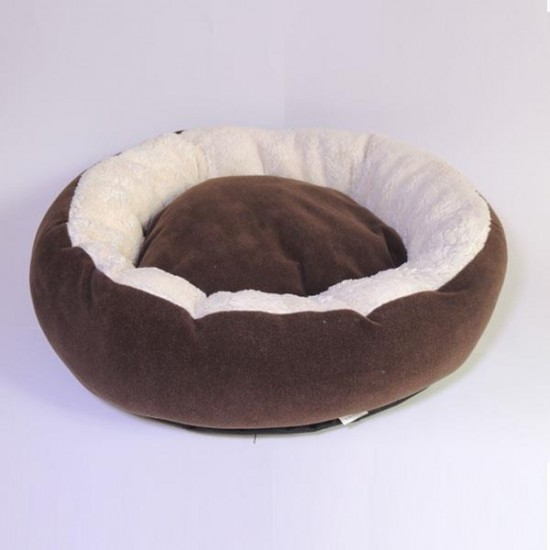 Bedspet Simit Kedi Köpek Yatağı Kahverengi