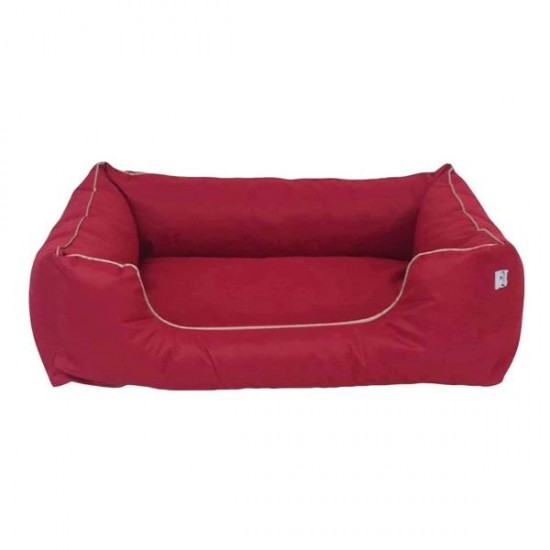 Bedspet Su Geçirmez Köpek Yatağı No 3 80x60x15Cm Kırmızı