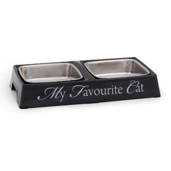 Beeztees My Favourite Cat Mama ve Su Kabı İkili Gri 2x130ml