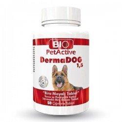 Bio PetActive Dermadog Brewers Sarımsaklı Maya Tableti 50 Adet 75gr