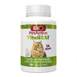 Bio PetActive Vitalicat Multivitaminli Tablet 150 Adet