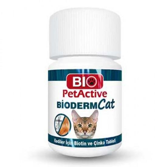 Bioderm Cat 100 Tablet Kediler İçin Çinko ve Biotin Tableti