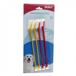 Bioline Köpek Diş Fırçası 4'lü