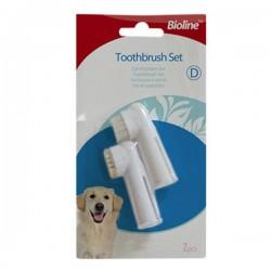 Bioline Köpek için Parmak Diş Fırçası Seti İkili