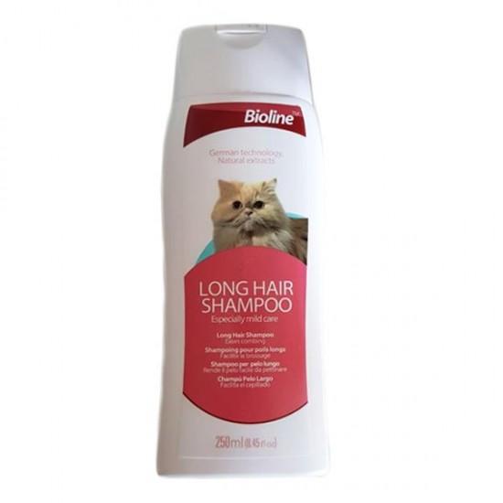 Bioline Uzun Tüylü Kediler için Şampuan 250 ml