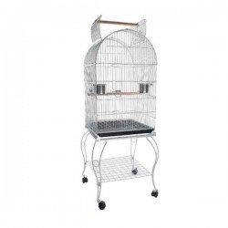 Sehpalı Papağan Kafesi Bird Life H04 Dövme Demir Siyah 51x51x140 Cm