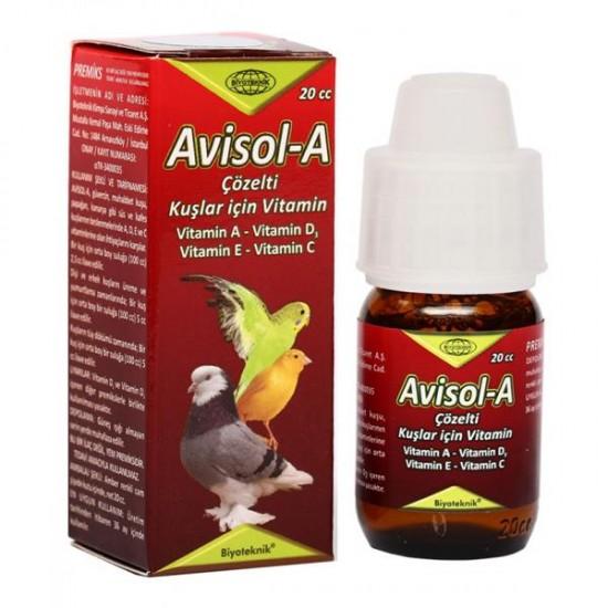 Biyoteknik Avisol-A Kuş Vitamini 20cc