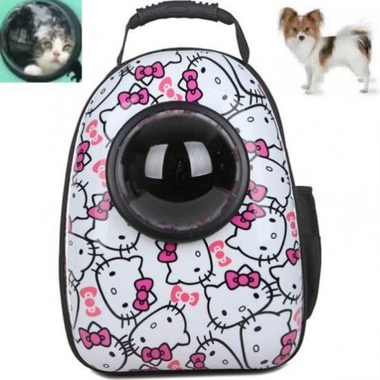 Carry Astronot Kedi Köpek Taşıma Çantası 43x33x27 Kitty Desenli