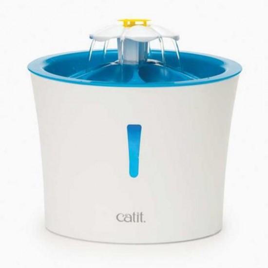 Catit 2.0 Flower Fountain 3 Lt Led Işıklı Otomatik Su Kabı Mavi