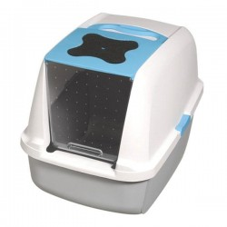 Catit Kapalı Kedi Tuvalet Kabı Mavi