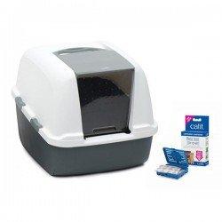 Catit Magic Blue Litter Box Jumbo Kapalı Kedi Tuvaleti