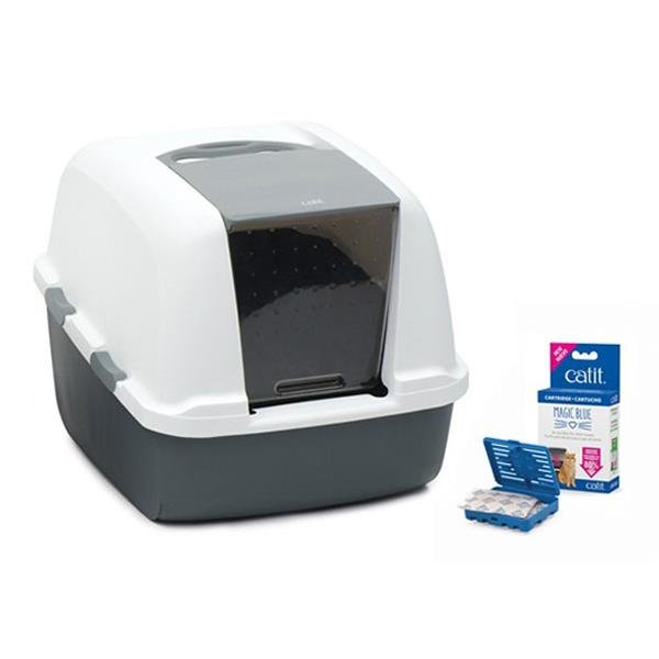 Catit Magic Blue Litter Box Jumbo Kapalı Kedi Tuvaleti