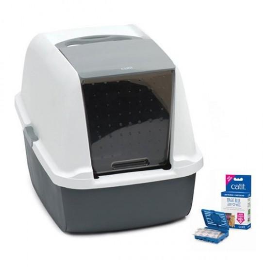 Catit Magic Blue Litter Box Kapalı Kedi Tuvaleti