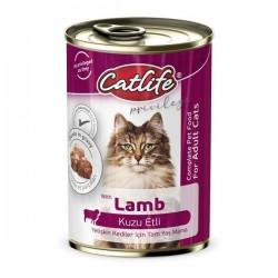 Catlife Kuzu Etli Yetişkin Kedi Konservesi 400gr