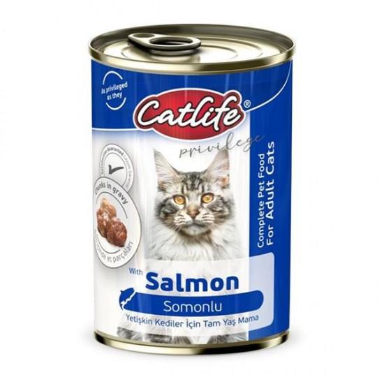 Catlife Somonlu Yetişkin Kedi Konservesi 400gr