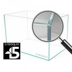 Creaqua 40x40x40Cm 45 Derece Açılı Ultra Extra Clear Cama Cam Akvaryum