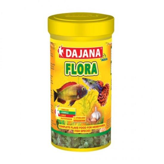 Dajana Flora Garlic Spirulina Cichlid Flakes 1000 ml 200Gr