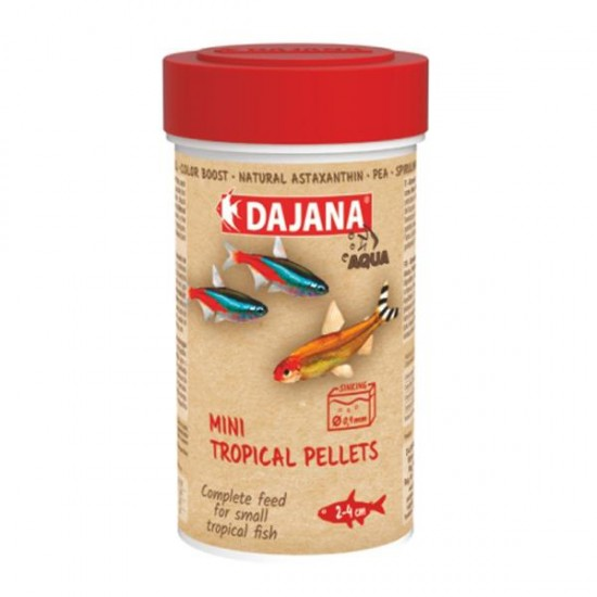 Dajana Mini Tropical Pellets 100 ml 50 Gr