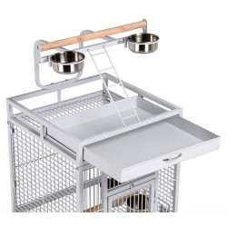 Dayang A10 Ayaklı Papağan Eğitim Kafesi 46x46x156cm Beyaz