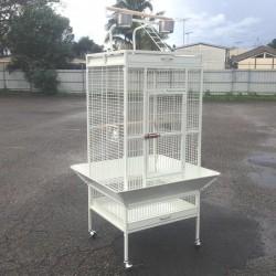 Dayang A11 Beyaz Ayaklı Papağan Eğitim Kafesi 61x56x165cm