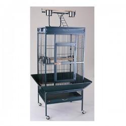 Dayang A11 Siyah Ayaklı Papağan Eğitim Kafesi 61x56x165cm