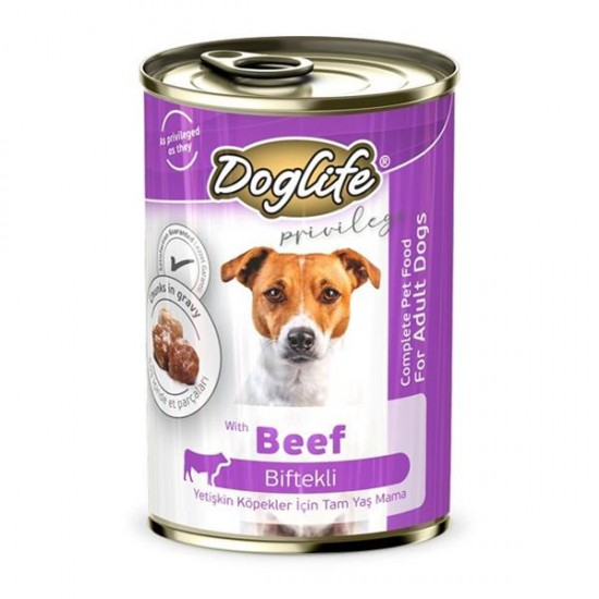 Doglife Biftekli Yetişkin Köpek Konservesi 400gr