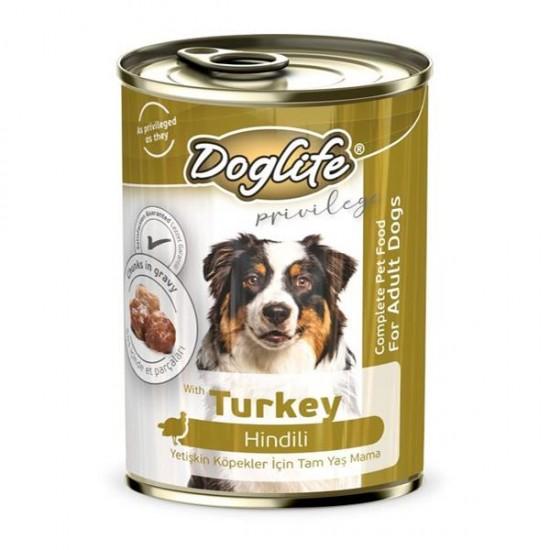 Doglife Hindili Yetişkin Köpek Konservesi 400gr