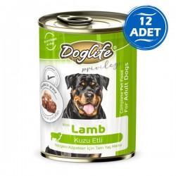 Doglife Kuzu Etli Yetişkin Köpek Konservesi 400gr 12 Adet