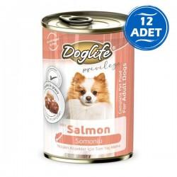 Doglife Somonlu Yetişkin Köpek Konservesi 400gr 12 Adet