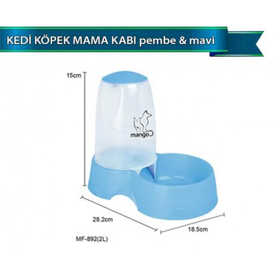 Dophin Kedi Köpek Mama Kabı Pembe Mavi