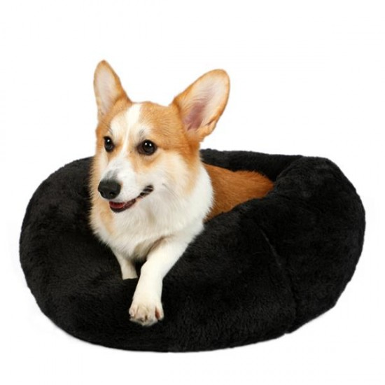Dubex Brownie Yuvarlak Kedi Köpek Yatağı Antrasit L