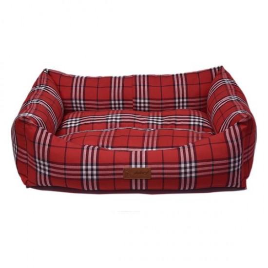 Dubex Danish Kedi Köpek Yatağı Kırmızı Kareli L